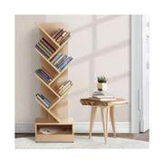 Home Office Design - 7-Shelf Tree Book Storage Rack Natural