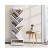Home Office Design - 7-Shelf Tree Book Storage Rack White
