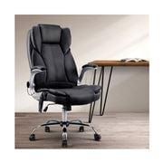Home Office Design - 8 Point PU Massage Chair Black