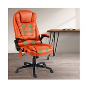 Home Office Design - 8 Point PU Reclining Chair Amber