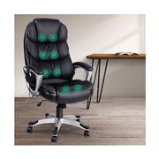 Home Office Design - 8 Point PU Reclining Massage Chair Blac