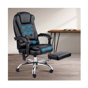 Home Office Design - 8 Point Reclining Message Chair Black