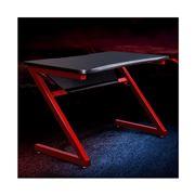 Home Office Design - Carbon Fiber Style Desks Black Red