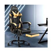 Home Office Design - Chair Chair Recliner PU Black Golden