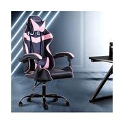 Home Office Design - Chair Chair Recliner PU Black Pink