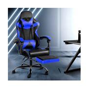 Home Office Design - Chair Footrest Black Blue