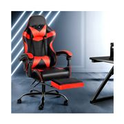 Home Office Design - Chair Footrest Black Red