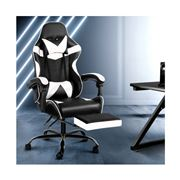 Home Office Design - Chair Footrest Black White