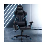 Home Office Design - Chair Leather Seat Black Blue