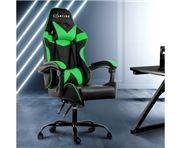 Home Office Design - Chair Recliner PU Black Green