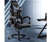 Home Office Design - Chair Recliner PU Black Grey