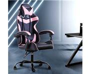 Home Office Design - Chair Recliner PU Black Pink