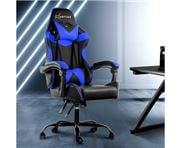 Home Office Design - Chair Recliner Racer Black Blue