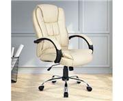 Home Office Design - Desk Chair PU Beige