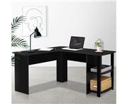 Home Office Design - Desk Corner L-Shape Black