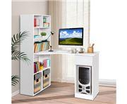 Home Office Design - Desk Corner Shelf