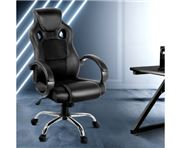 Home Office Design - Racing Style PU Desk Chair Black