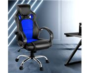 Home Office Design - Racing Style PU Desk Chair Blue