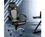 Home Office Design - Racing Style PU Desk Chair Grey