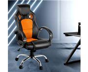 Home Office Design - Racing Style PU Desk Chair Orange