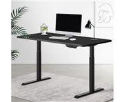 Home Office Design - Table w/Riser Dual Motors 140cm Black