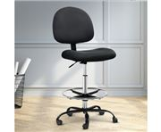Home Office Design - Veer Drafting Stool Fabric Chair Black