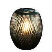 Zaffero - Belle Turquoise Hand Cut Art Glass Table Lamp
