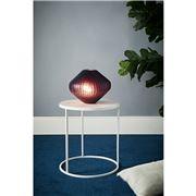 Zaffero - Paris Small Ruby Hand Cut Art Glass Table Lamp