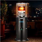 Devanti - Gas Patio Outdoor LPG Heater Stand Steel Black