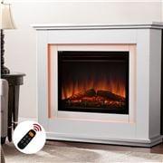 Devanti - Mantle Fire Log Wood Heater 3D Flame Effect