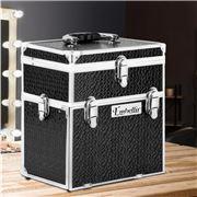 Embellir - Portable Cosmetic Makeup Carry Case Diamond Black