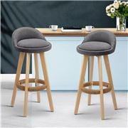 MyBar - Backrest Bar stool Grey Set 2pc