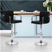 MyBar - Bar stool Gas lift Swivel Steel/Black Set 2pc