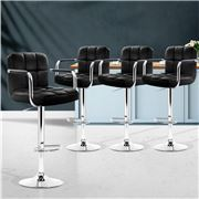 MyBar - Bar stool Gas lift Swivel Steel/Black Set 4pc