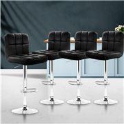 MyBar - Bar stool Gas lift Swivel Steel/Black Set of 4pc