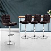 MyBar - Bar stool Gas lift Swivel Steel/Chocolate Set 4pc