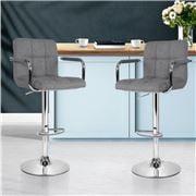 MyBar - Bar stool Gas lift Swivel Steel/Grey Set 2pc