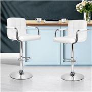 MyBar - Bar stool Gas lift Swivel Steel/White Set 2pc