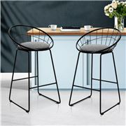MyBar - Bar stool Steel Grey/Black Set 2pc