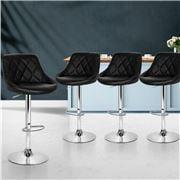 MyBar - Bar Stools PU Style Black Set 4pc