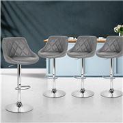 MyBar - Bar Stools PU Style Grey Set 4pc