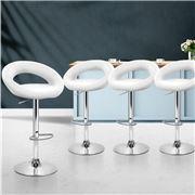 MyBar - Bar Stools PU Style White Set 4pc