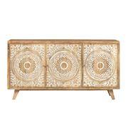 Design Arc - Carved Floral Sideboard