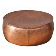 Design Arc - Bronze Look Hammered Coffee Table