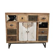 Design Arc - Cowhide Patchwork Chest Of Drawers