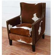 Design Arc - Cowhide Tack Armchair