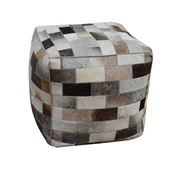 Design Arc - Cowhide Square Patch Ottoman