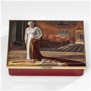 Halcyon Days - The Coronation Theatre HR Queen II Enamel Box