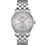 Mido - Baroncelli Stainless Steel Auto Gents Grey Watch 38mm