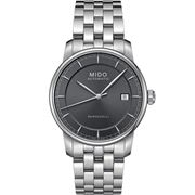 Mido - Baroncelli Auto Gents Anthracite S/Steel Watch 38mm
